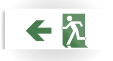 Running Man Fire Safety Exit Sign Emergency Evacuation Printed Metal 74
