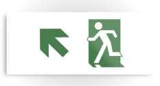 Running Man Fire Safety Exit Sign Emergency Evacuation Printed Metal 75
