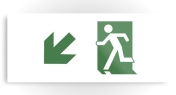 Running Man Fire Safety Exit Sign Emergency Evacuation Printed Metal 76