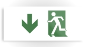 Running Man Fire Safety Exit Sign Emergency Evacuation Printed Metal 77