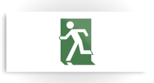 Running Man Fire Safety Exit Sign Emergency Evacuation Printed Metal 78