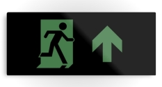 Running Man Fire Safety Exit Sign Emergency Evacuation Printed Metal 79