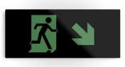 Running Man Fire Safety Exit Sign Emergency Evacuation Printed Metal 82