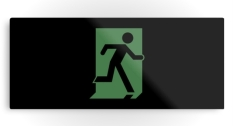 Running Man Fire Safety Exit Sign Emergency Evacuation Printed Metal 84