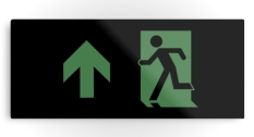 Running Man Fire Safety Exit Sign Emergency Evacuation Printed Metal 85