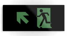 Running Man Fire Safety Exit Sign Emergency Evacuation Printed Metal 87
