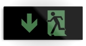Running Man Fire Safety Exit Sign Emergency Evacuation Printed Metal 88