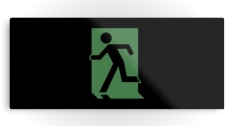 Running Man Fire Safety Exit Sign Emergency Evacuation Printed Metal 89
