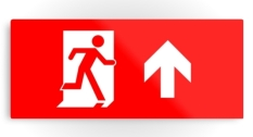 Running Man Fire Safety Exit Sign Emergency Evacuation Printed Metal 9