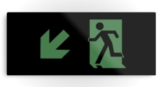 Running Man Fire Safety Exit Sign Emergency Evacuation Printed Metal 90