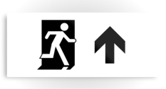 Running Man Fire Safety Exit Sign Emergency Evacuation Printed Metal 91