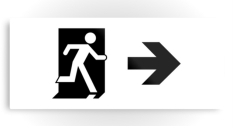 Running Man Fire Safety Exit Sign Emergency Evacuation Printed Metal 92