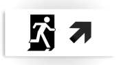 Running Man Fire Safety Exit Sign Emergency Evacuation Printed Metal 93