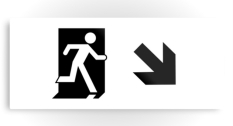 Running Man Fire Safety Exit Sign Emergency Evacuation Printed Metal 94