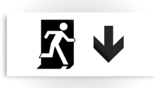 Running Man Fire Safety Exit Sign Emergency Evacuation Printed Metal 95