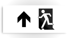 Running Man Fire Safety Exit Sign Emergency Evacuation Printed Metal 97