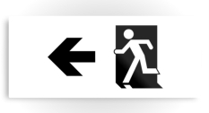 Running Man Fire Safety Exit Sign Emergency Evacuation Printed Metal 98