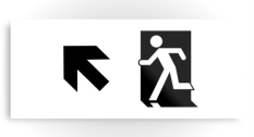 Running Man Fire Safety Exit Sign Emergency Evacuation Printed Metal 99
