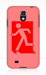 Running Man Fire Safety Exit Sign Emergency Evacuation Samsung Galaxy Mobile Phone Case 1