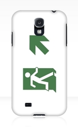 Running Man Fire Safety Exit Sign Emergency Evacuation Samsung Galaxy Mobile Phone Case 10