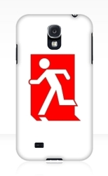 Running Man Fire Safety Exit Sign Emergency Evacuation Samsung Galaxy Mobile Phone Case 100