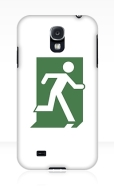 Running Man Fire Safety Exit Sign Emergency Evacuation Samsung Galaxy Mobile Phone Case 101