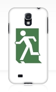 Running Man Fire Safety Exit Sign Emergency Evacuation Samsung Galaxy Mobile Phone Case 102