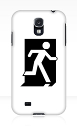 Running Man Fire Safety Exit Sign Emergency Evacuation Samsung Galaxy Mobile Phone Case 103