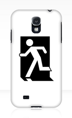 Running Man Fire Safety Exit Sign Emergency Evacuation Samsung Galaxy Mobile Phone Case 104