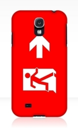 Running Man Fire Safety Exit Sign Emergency Evacuation Samsung Galaxy Mobile Phone Case 105