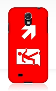 Running Man Fire Safety Exit Sign Emergency Evacuation Samsung Galaxy Mobile Phone Case 106