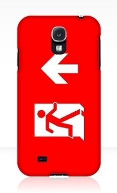 Running Man Fire Safety Exit Sign Emergency Evacuation Samsung Galaxy Mobile Phone Case 107