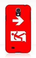 Running Man Fire Safety Exit Sign Emergency Evacuation Samsung Galaxy Mobile Phone Case 108