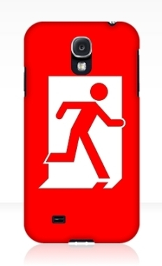 Running Man Fire Safety Exit Sign Emergency Evacuation Samsung Galaxy Mobile Phone Case 109