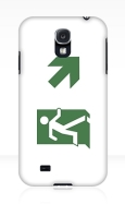 Running Man Fire Safety Exit Sign Emergency Evacuation Samsung Galaxy Mobile Phone Case 11