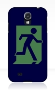 Running Man Fire Safety Exit Sign Emergency Evacuation Samsung Galaxy Mobile Phone Case 110