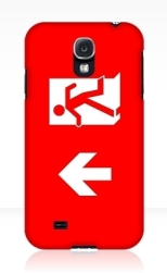 Running Man Fire Safety Exit Sign Emergency Evacuation Samsung Galaxy Mobile Phone Case 111