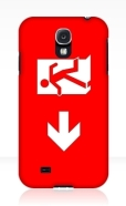 Running Man Fire Safety Exit Sign Emergency Evacuation Samsung Galaxy Mobile Phone Case 112