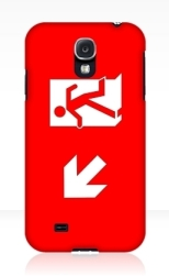 Running Man Fire Safety Exit Sign Emergency Evacuation Samsung Galaxy Mobile Phone Case 113