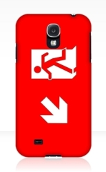 Running Man Fire Safety Exit Sign Emergency Evacuation Samsung Galaxy Mobile Phone Case 114
