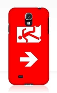 Running Man Fire Safety Exit Sign Emergency Evacuation Samsung Galaxy Mobile Phone Case 115