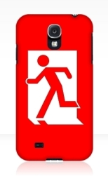 Running Man Fire Safety Exit Sign Emergency Evacuation Samsung Galaxy Mobile Phone Case 116