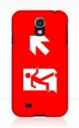 Running Man Fire Safety Exit Sign Emergency Evacuation Samsung Galaxy Mobile Phone Case 117