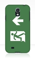 Running Man Fire Safety Exit Sign Emergency Evacuation Samsung Galaxy Mobile Phone Case 118