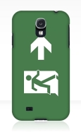 Running Man Fire Safety Exit Sign Emergency Evacuation Samsung Galaxy Mobile Phone Case 119