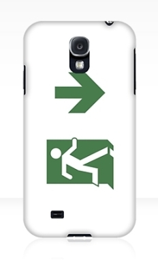 Running Man Fire Safety Exit Sign Emergency Evacuation Samsung Galaxy Mobile Phone Case 12
