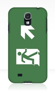 Running Man Fire Safety Exit Sign Emergency Evacuation Samsung Galaxy Mobile Phone Case 120