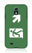 Running Man Fire Safety Exit Sign Emergency Evacuation Samsung Galaxy Mobile Phone Case 122