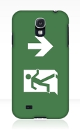 Running Man Fire Safety Exit Sign Emergency Evacuation Samsung Galaxy Mobile Phone Case 123