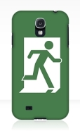 Running Man Fire Safety Exit Sign Emergency Evacuation Samsung Galaxy Mobile Phone Case 124